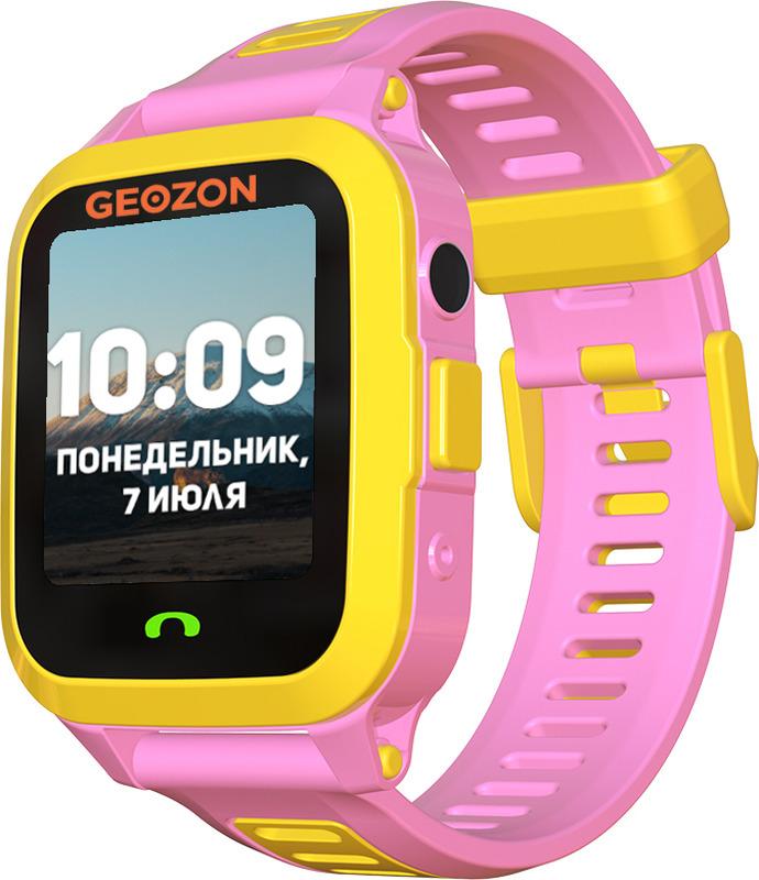 Умные часы детские Geozon Active, розовый умные часы детские geozon aqua синий