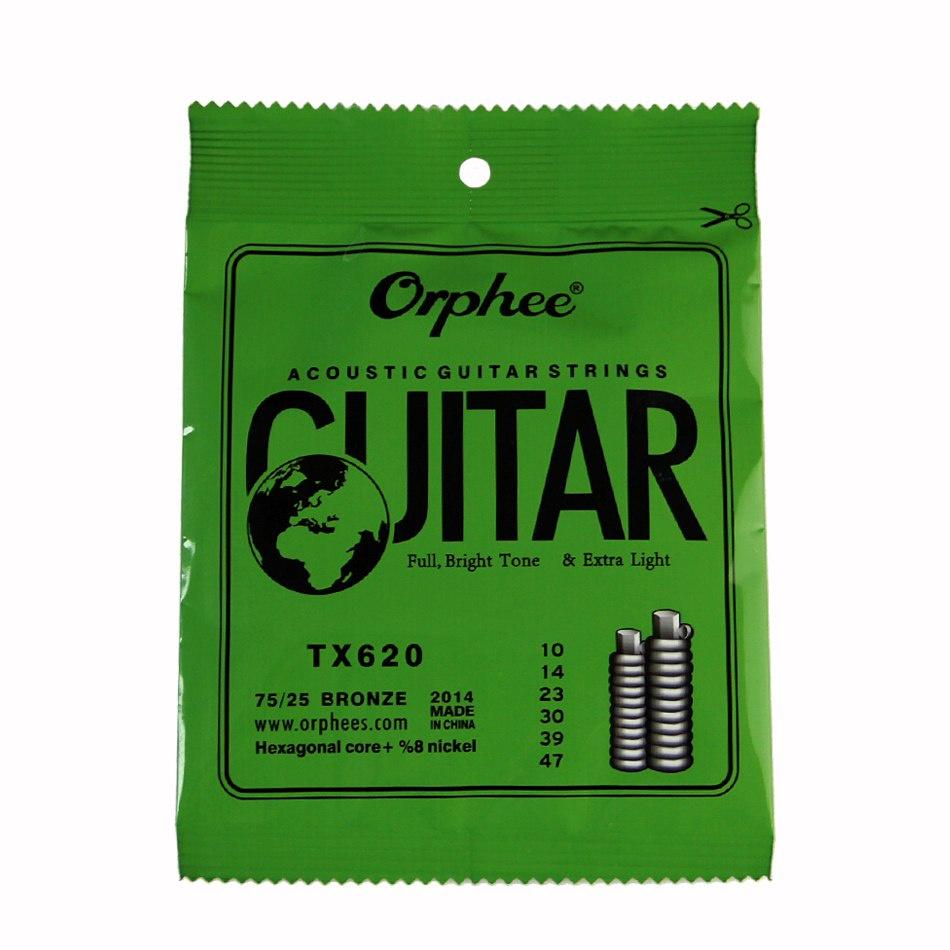 Струны для акустической гитары Orphee TX-620, MF00723 струны для акустической гитары d addario ez910
