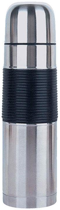 Термос Maestro, серебристый, черный, 0,5 л кастрюля maestro cast mr 4128 черный с крышкой 6 7 л