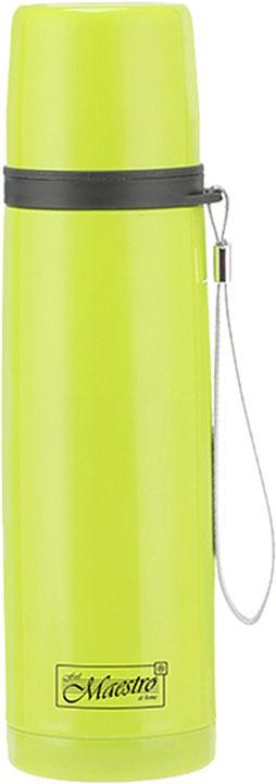 Термос Maestro, MR-1642-35, зеленый, серый, 0,35 л термос maestro mr 1633 75 серебристый 0 75 л