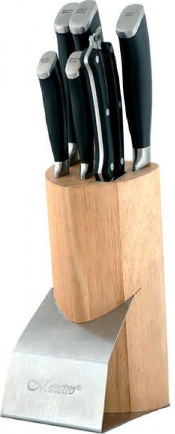 Набор кухонных ножей Maestro, MR-1421, черный, 7 предметов