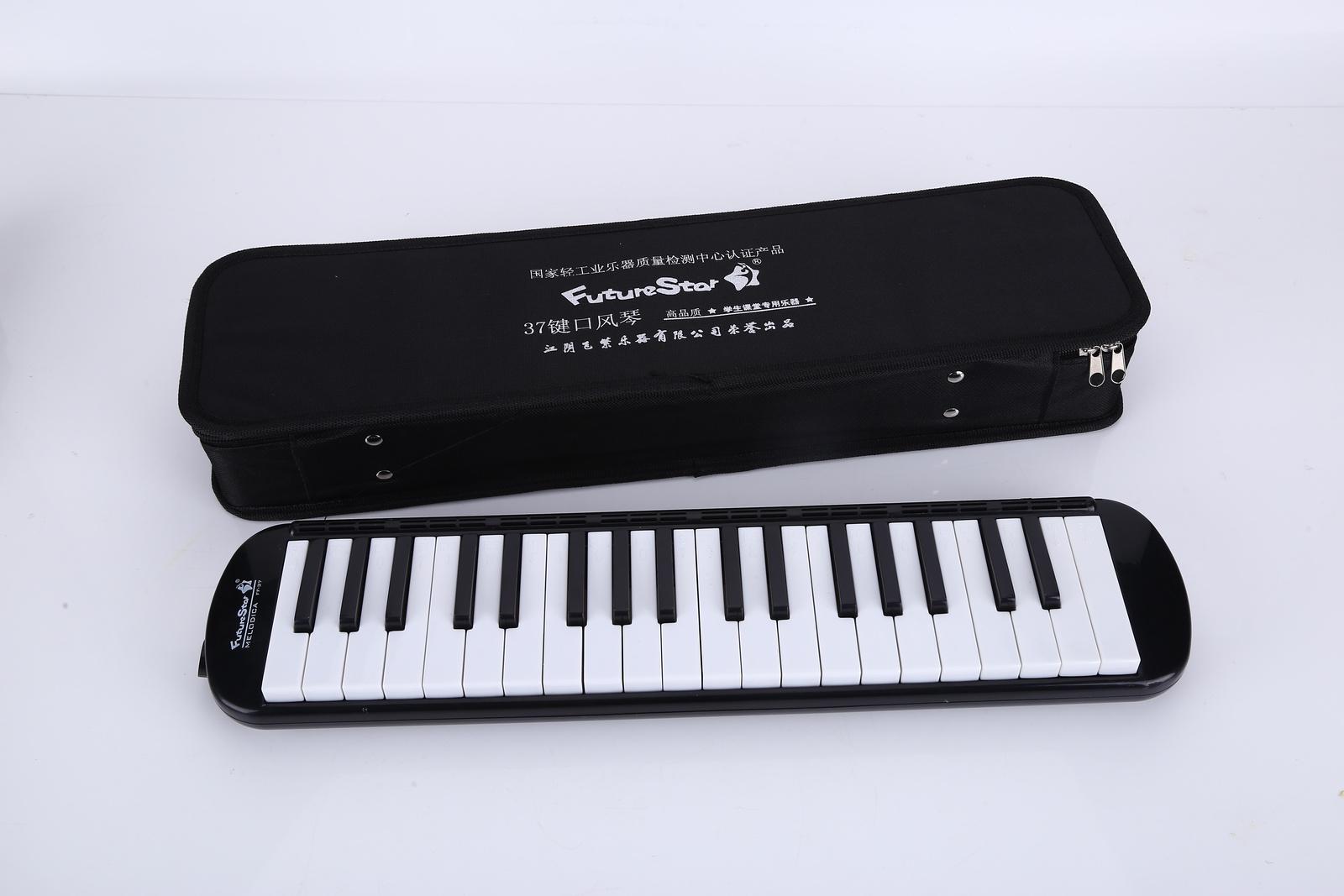 Детский музыкальный инструмент Future Star FF-37K/BK, черныйMF00770Духовая мелодика хроматическая, цвет ЧерныйМягкий кейс и гибкая трубка в комплектеКлавиш - 37Корпус - пластикЦвет - синийПолный диапозон - f - fДлина - 42 см
