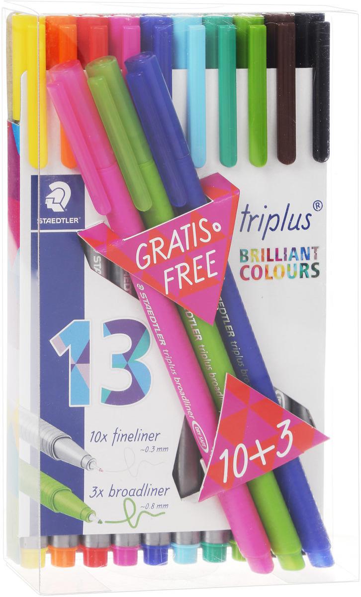 Staedtler Набор капиллярных ручек Triplus 13 цветов набор капиллярных ручек manga shonen