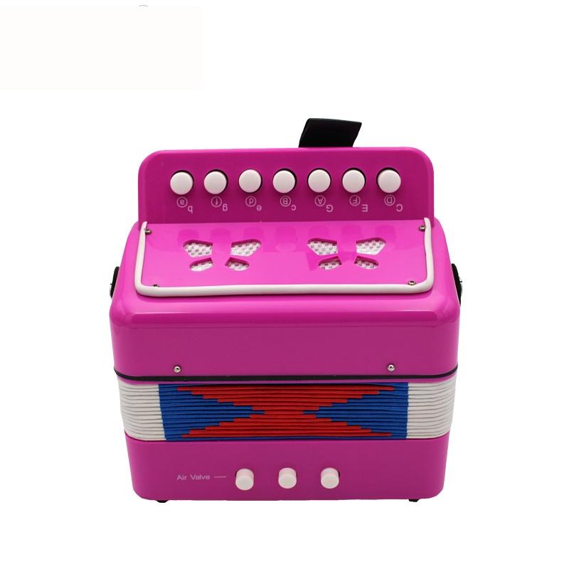 Детский музыкальный инструмент Future Star FF-7K/RRD гармошка детская диатоническая, малиновый музыкальный инструмент 7 педалей