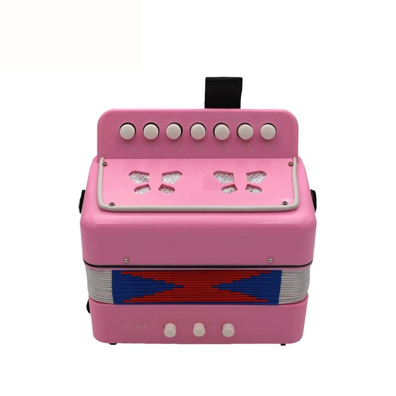 Детский музыкальный инструмент Future Star FF-7K/PK РОЗОВЫЙ гармошка детская диатоническая, розовый музыкальный инструмент 7 педалей
