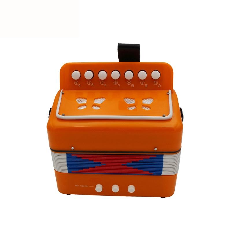 Детский музыкальный инструмент Future Star FF-7K/ORG гармошка детская диатоническая, оранжевый музыкальный инструмент 7 педалей