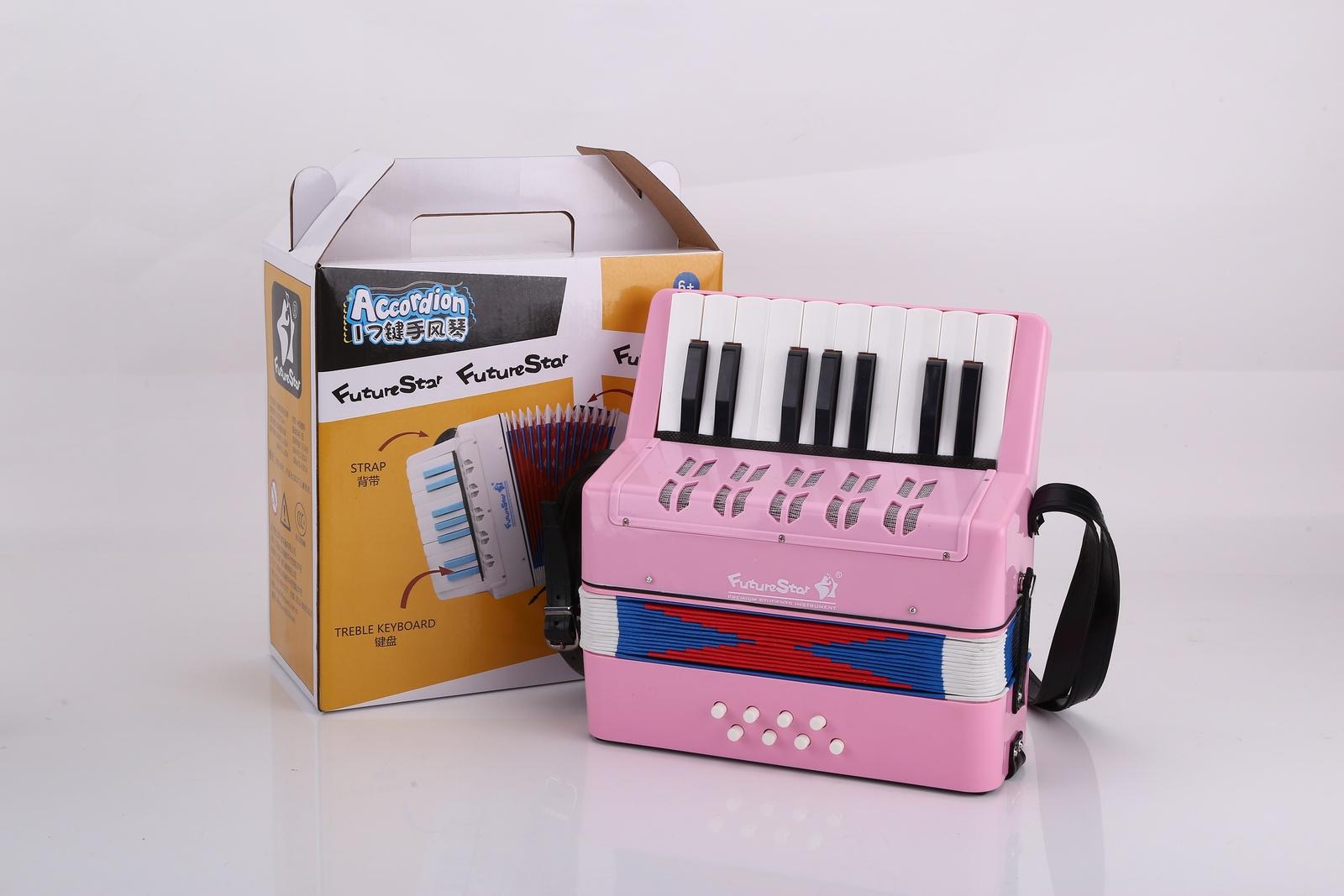 Детский музыкальный инструмент Future Star FF-17K/PK аккордеон детский, розовый детский пистолет revitalization star