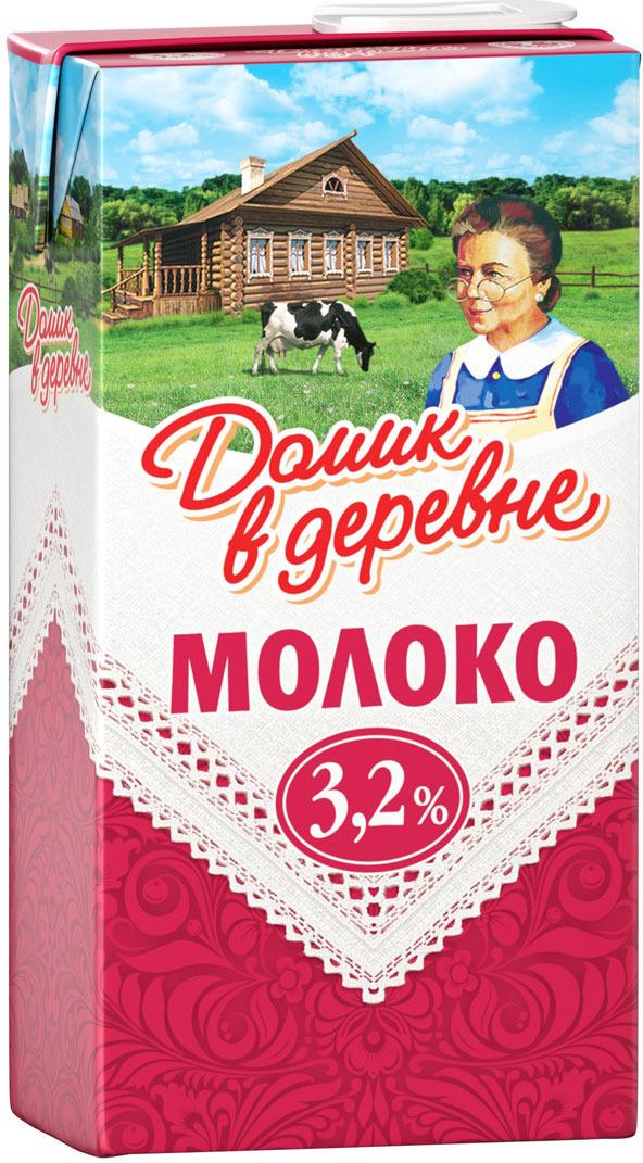 Молоко ультрапастеризованное 3,2% Домик в деревне, 0,5 л в деревне