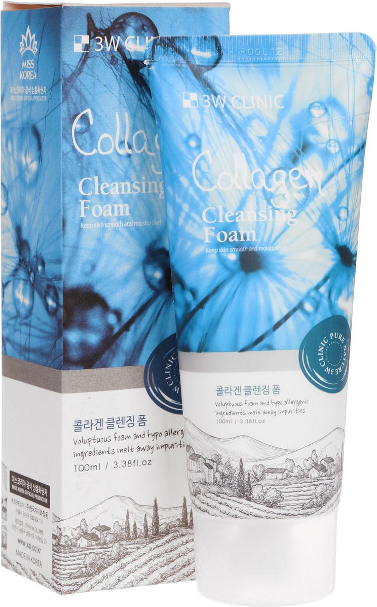3W Clinic Пенка для умывания Интенсивная Intense Collagen, 100 мл