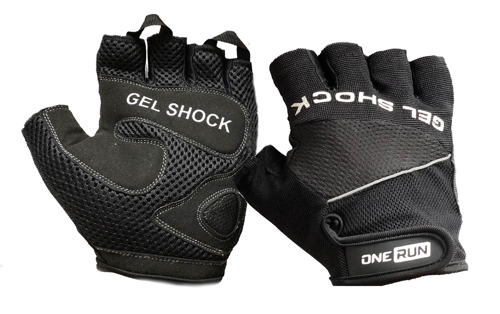 Перчатки для фитнеса OneRun, цвет черный, размер S