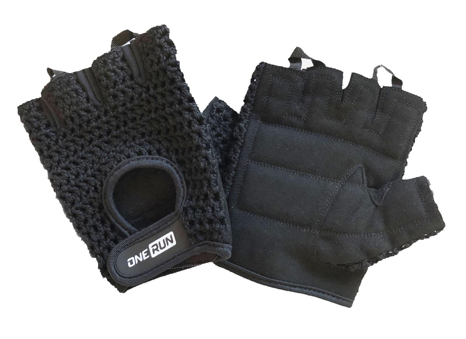 Перчатки для фитнеса OneRun, цвет черный, размер XL