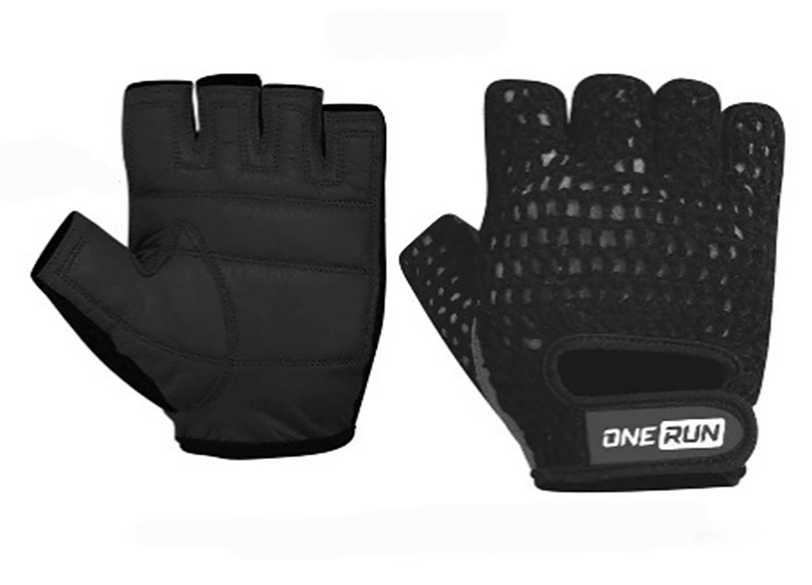 Перчатки для фитнеса OneRun цвет черный, размер XL