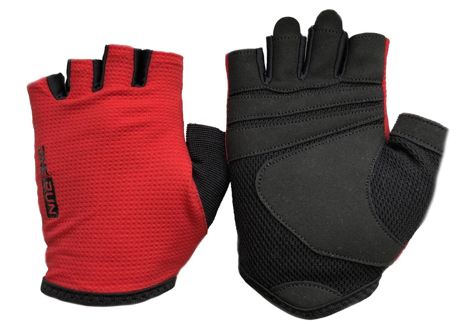 Перчатки для фитнеса OneRun женские, UNX-01-M, красный, черный, размер M