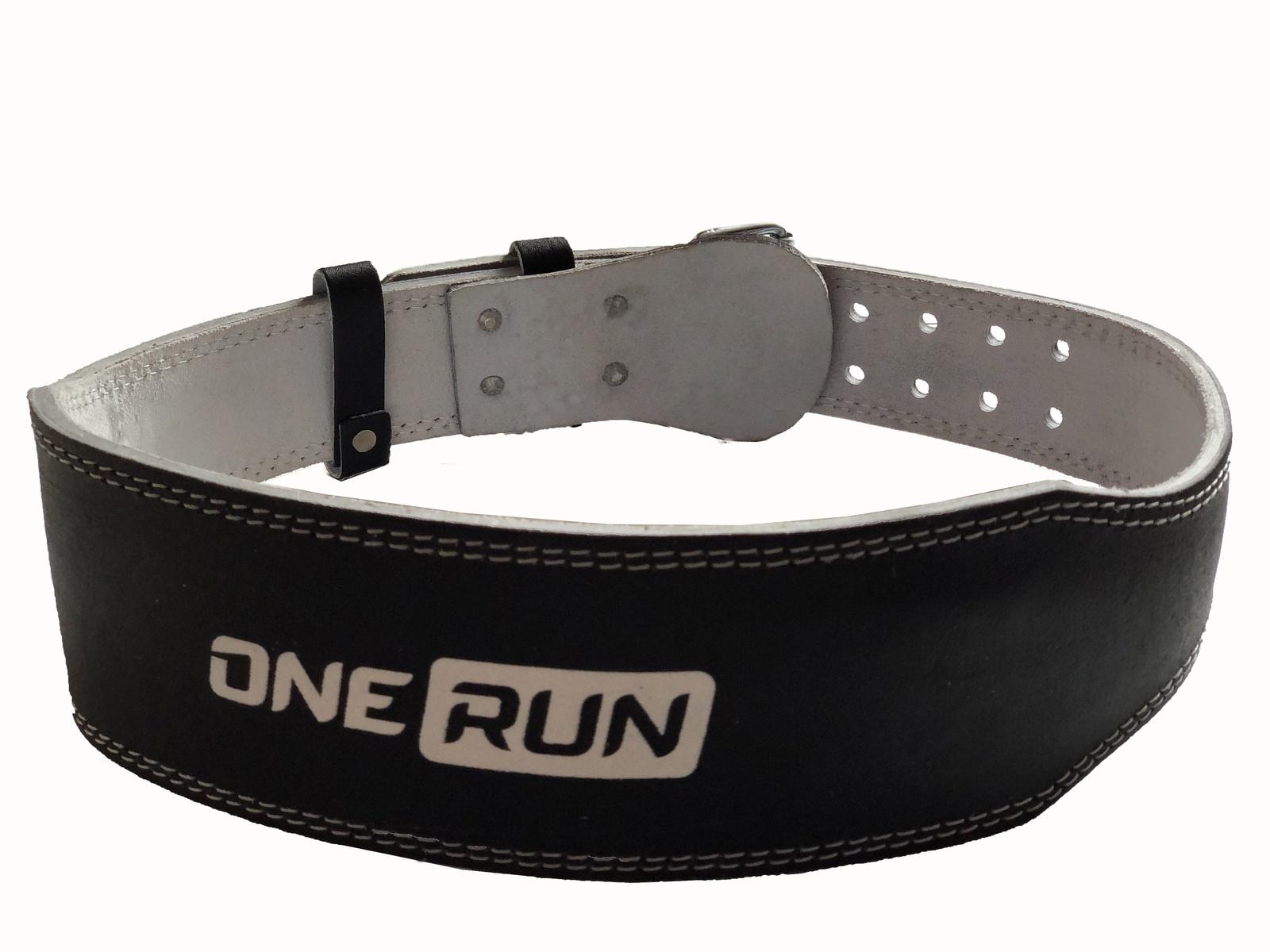 цены на Кожанный ремень для фитнеса OneRun цвет черный, размер M  в интернет-магазинах