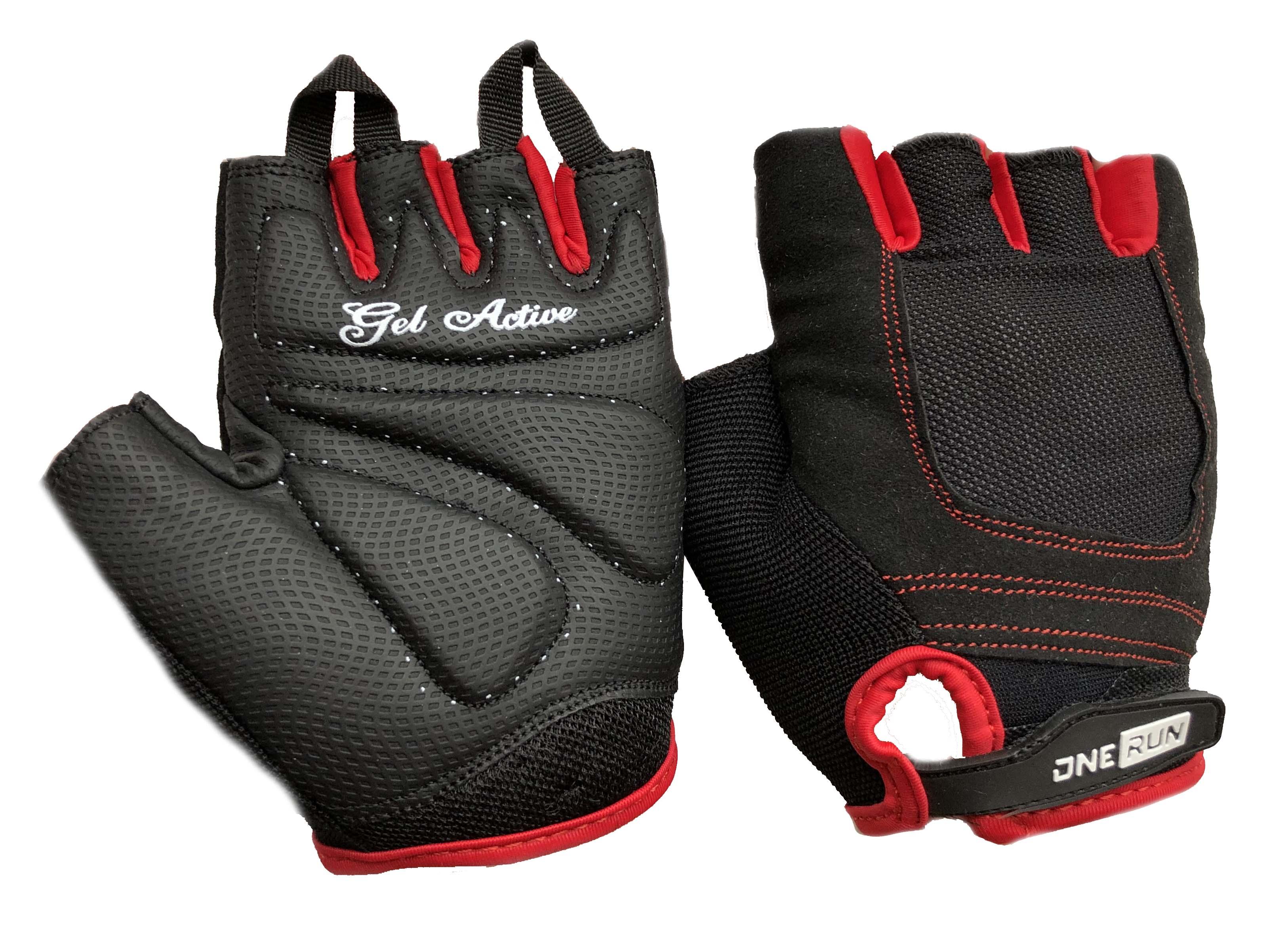 цена на Перчатки для фитнеса OneRun женские гелевые, AI-05-785-XS, красный, черный, размер XS