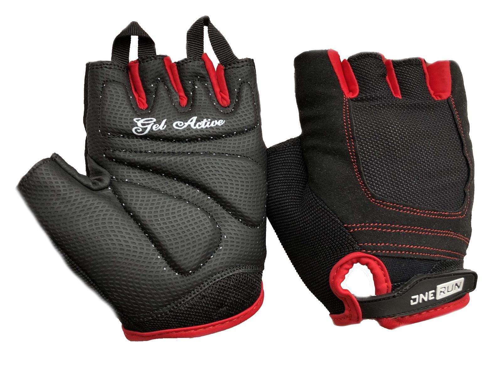 """Перчатки для фитнеса OneRun женские гелевые, AI-05-785-S, красный, черный, размер SAI-05-785-SПерчатки сделаны из качественных композиционных материалов. Износостойкий материал """"Серино"""" обеспечивает хорошее сцепление с поверхностью, позволяя улучшить захват при работе с гантелями, штангами и гирями. Внешняя сторона перчатки состоит из сетки, что позволяет отводить пот от рук. Липучка регулирует ширину запястья. Ладонь: 50% серино. Тыльная сторона: 10% эластан, 20% сетка из лайкры, 15 % амара, 5% спандекс."""