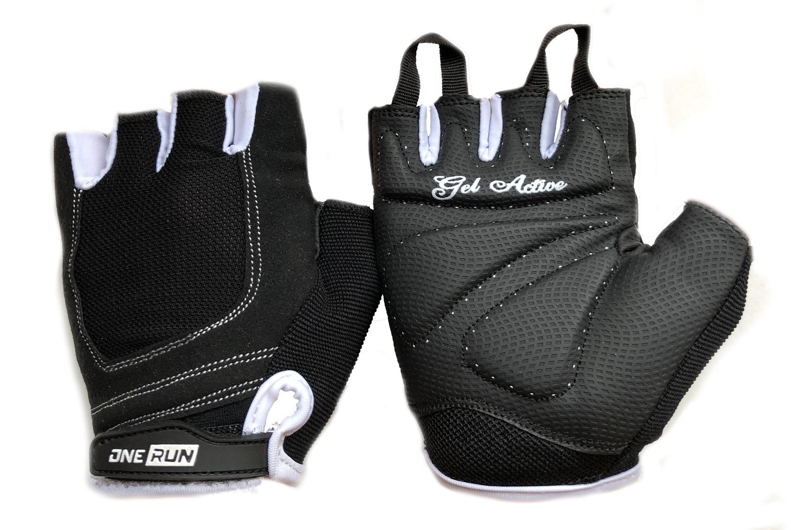 цена на Перчатки для фитнеса OneRun женские гелевые, AI-05-786-XS, белый, черный, размер XS
