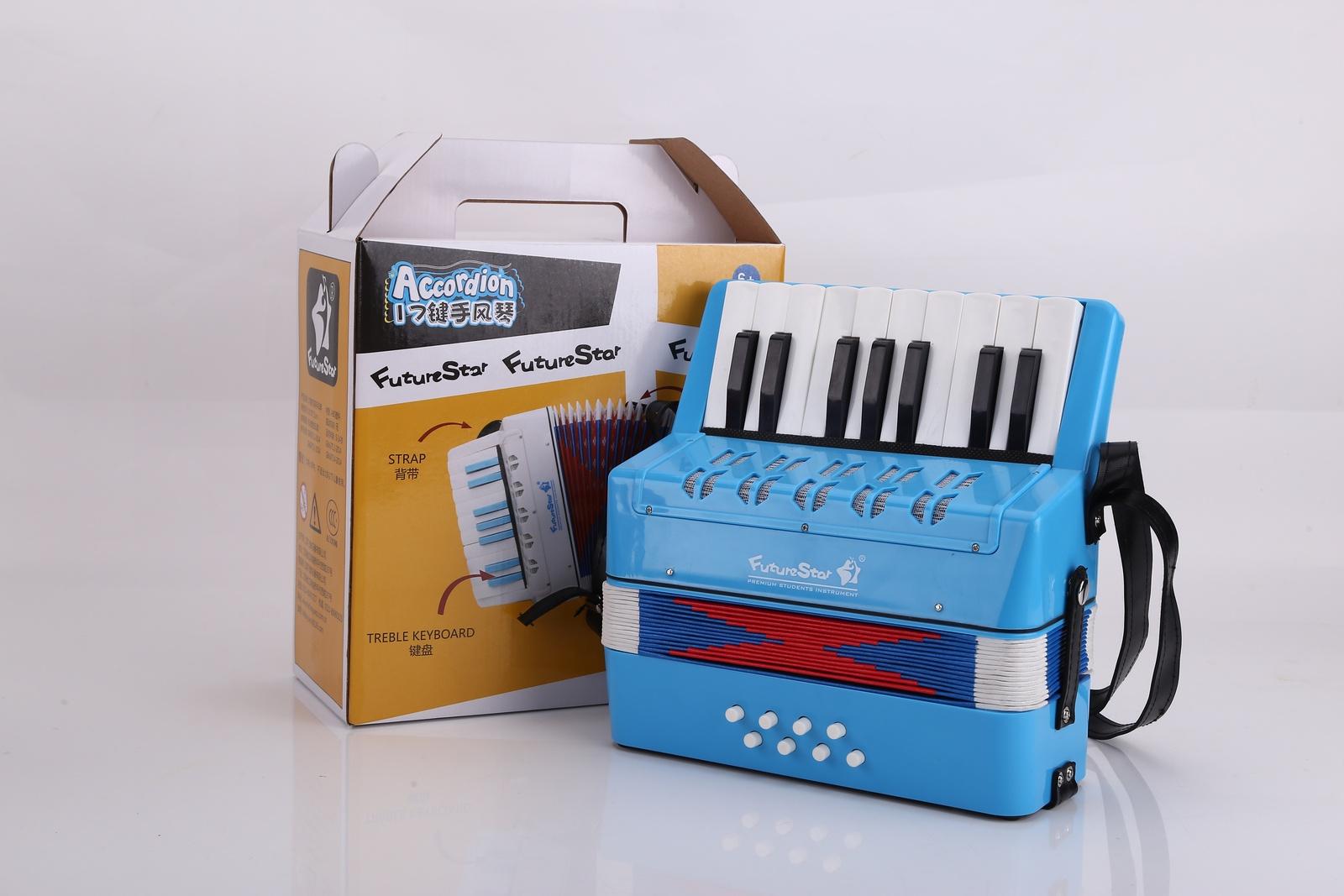 Детский музыкальный инструмент Future Star FF-17K/LBL аккордеон детский, голубой детский пистолет revitalization star