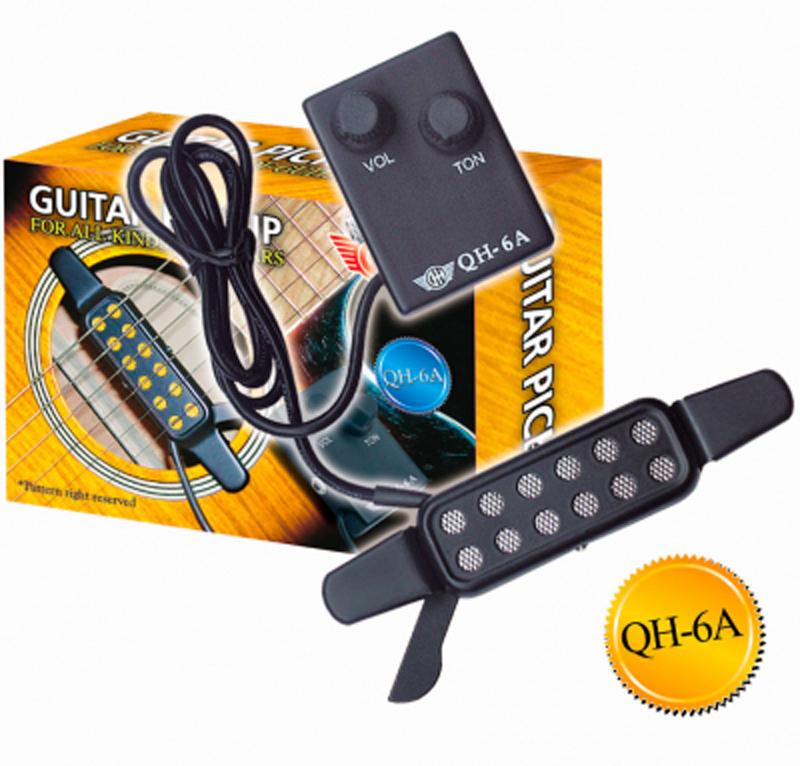 Звукосниматель (пьезодатчик) для акустической гитары GH QH-6A, MF00833 струны для акустической гитары d addario ez910