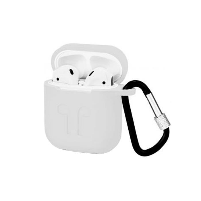 Фото - Чехол силиконовый для Apple AirPods Devia Naked Silicone Case Suit с карабином и креплением на Apple Watch, 6938595313172, белый беспроводное зарядное устройство 3 в 1 для смартфона apple watch apple airpods devia 18w