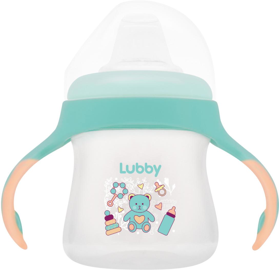 """Поильник-непроливайка Lubby """"Малыши и Малышки"""" со сменным носиком, от 4 месяцев, 16403, 150 мл"""
