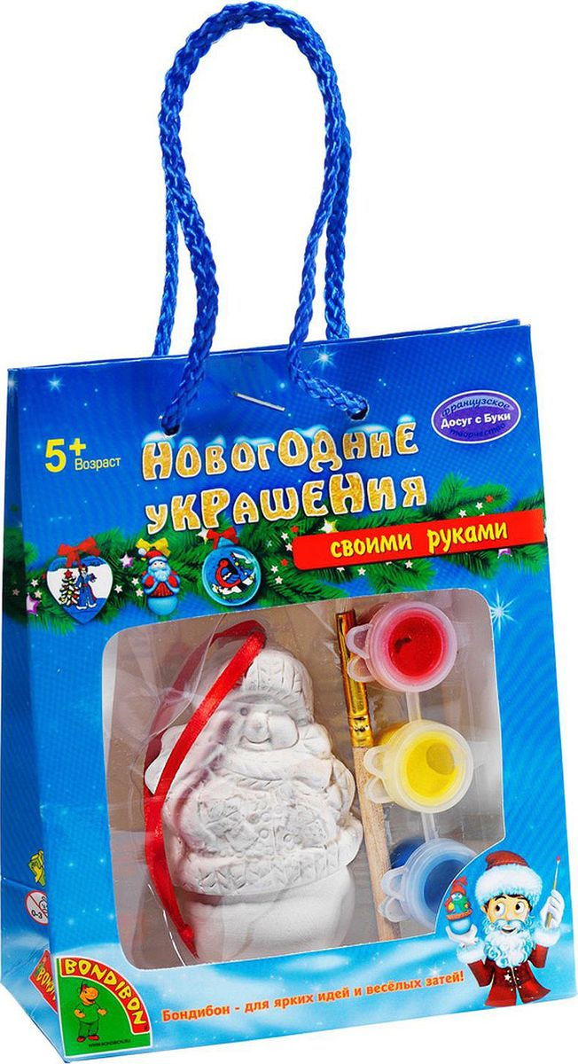 """Набор для росписи Bondibon """"Новогодние украшения. Снеговик"""""""