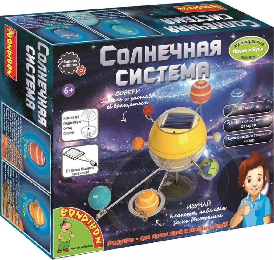 Набор для опытов и экспериментов Bondibon Солнечная система набор для опытов и экспериментов edu toys space science модель солнечной системы ge045 разноцветный