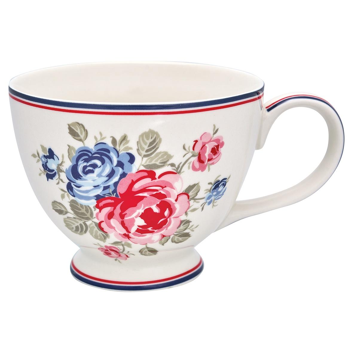 Фото - Чайная чашка Greengate Hailey white STWTECHAI0106, белый, 400 мл [супермаркет] jingdong геб scybe фил приблизительно круглая чашка установлена в вертикальном положении стеклянной чашки 290мла 6 z