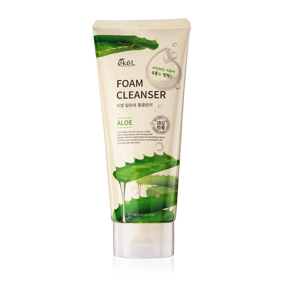 Пенка для умывания Ekel Aloe Foam Cleanser с алоэ, 180 мл