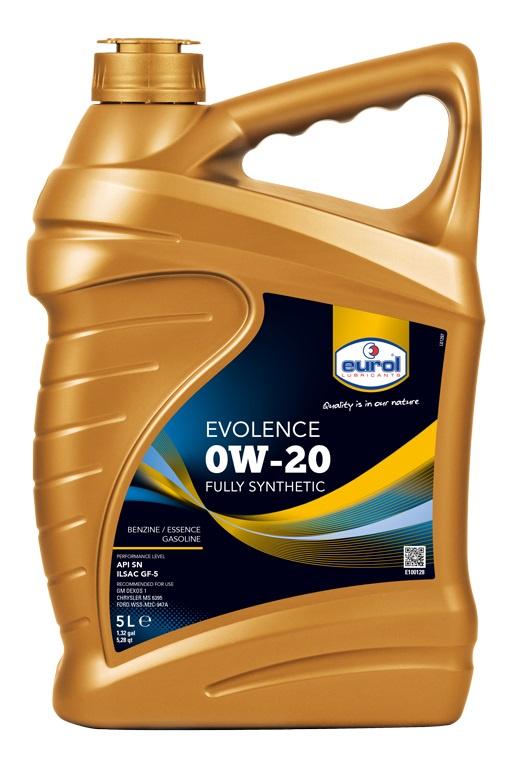 Моторное масло Eurol Evolence E1001285L, 0W-20, 5 л