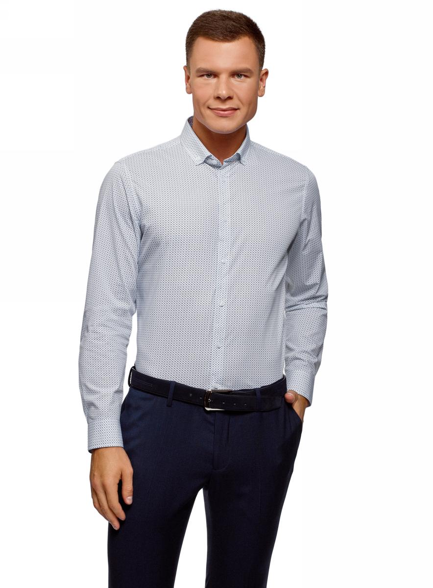 Фото - Рубашка oodji Basic рубашка мужская oodji цвет белый 3l140104m 34146n 1000n размер 39 46 182