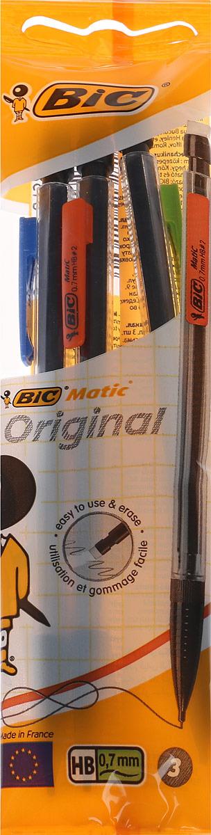 Bic Набор чернографитных механических карандашей Matic 3 шт карандаши bic kids