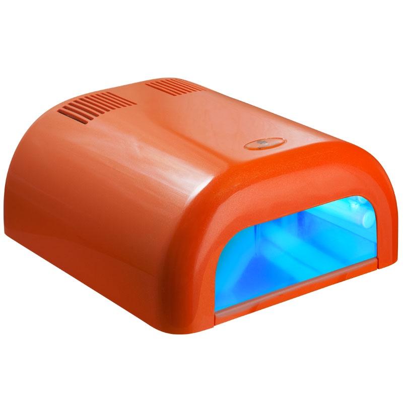 УФ лампа Planet Nails ASN Tunnel 21118, оранжевый, 36W21118Ультрафиолетовая лампа 36W Tunnel белая (4 лампы по 9 Ватт) - оснащена таймером на 2 мин и бесконечность. Со всех сторон лампа оснащена зеркальными отражателями, что ускоряет время полимеризации геля. Эта модель предназначена для мастеров, которые ценят простые и комфортные аппараты с легким управлением.