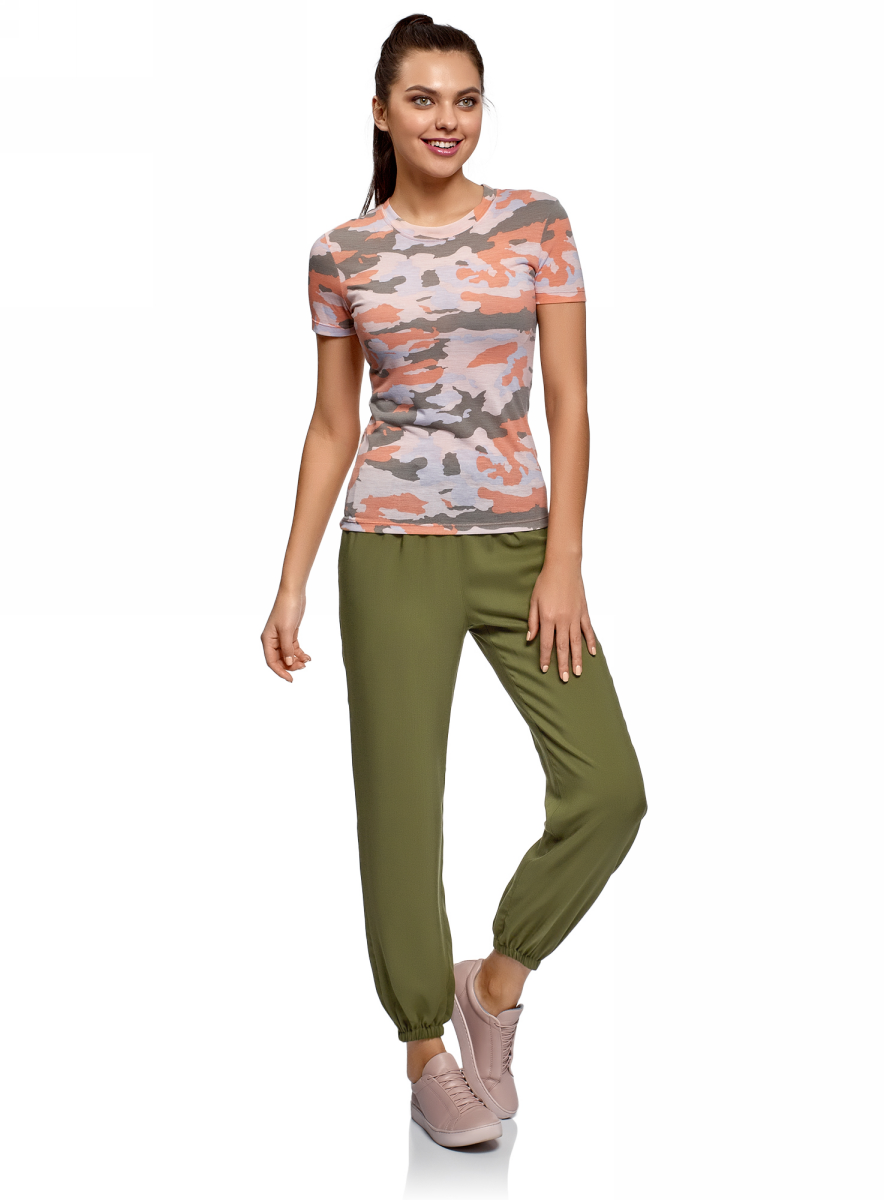 Брюки oodji брюки женские oodji цвет светло серый меланж 16701010b 46980 2000m размер m 46