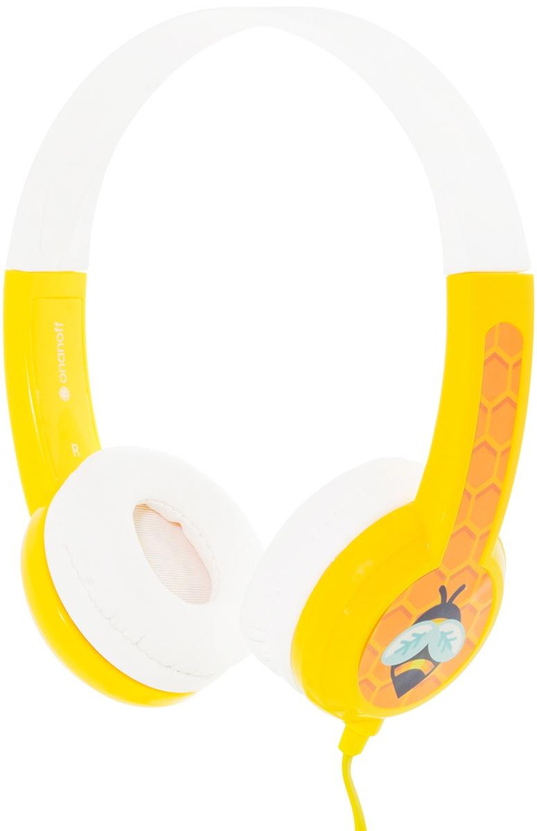 Наушники детские Buddyphones Standard Yellow BP-YELLOW-01-K, желтый