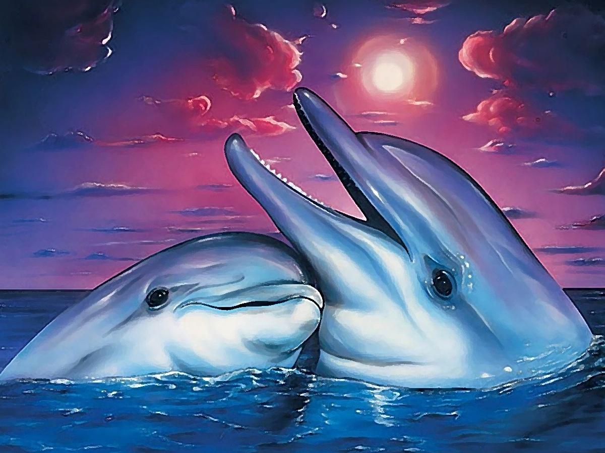Дельфины картинки с надписью, спасибо