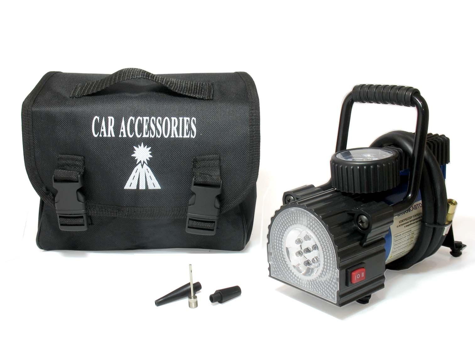Автомобильный компрессор МАЯКАВТО AC587МА, 35 л/м, LED фонарь автомобильный компрессор autoluxe компрессор с фонарем мистраль серый черно серый