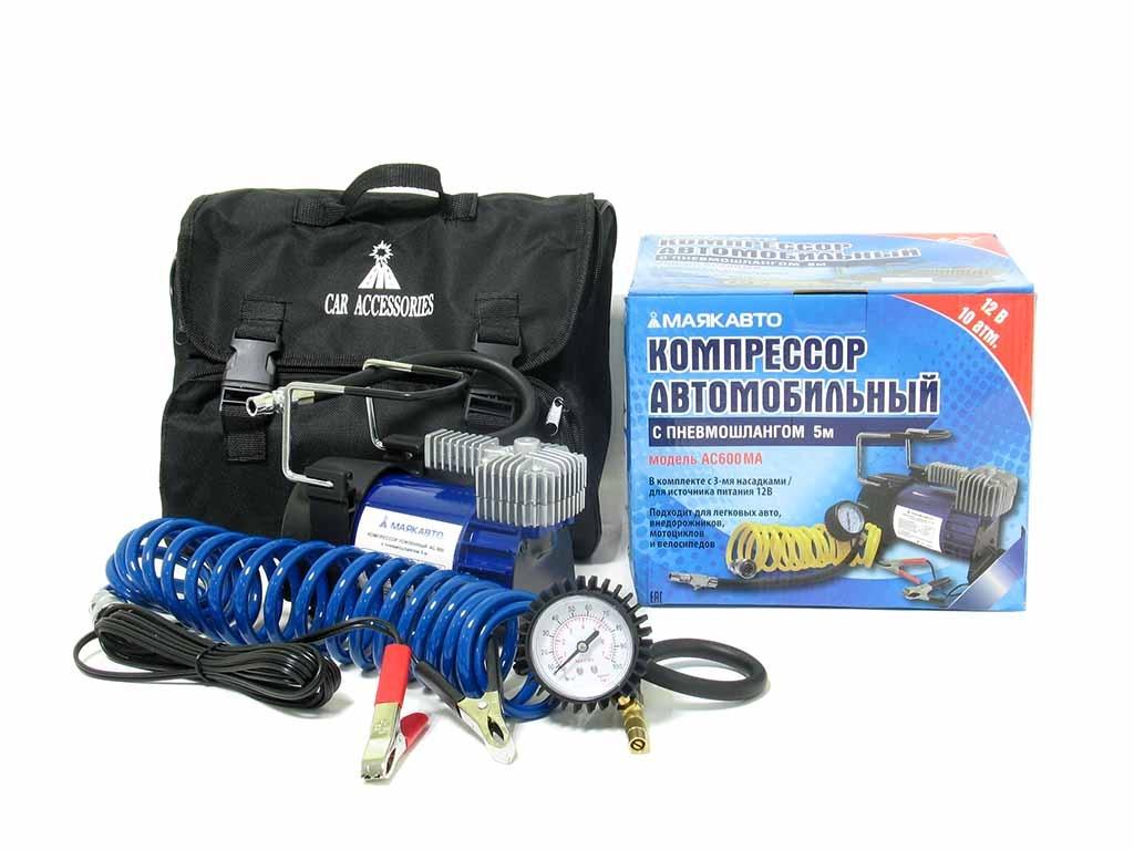 Автомобильный компрессор МАЯКАВТО AC600МА, 35 л/м, усиленный автомобильный компрессор с пылесосом zipower pm 6510 15л мин
