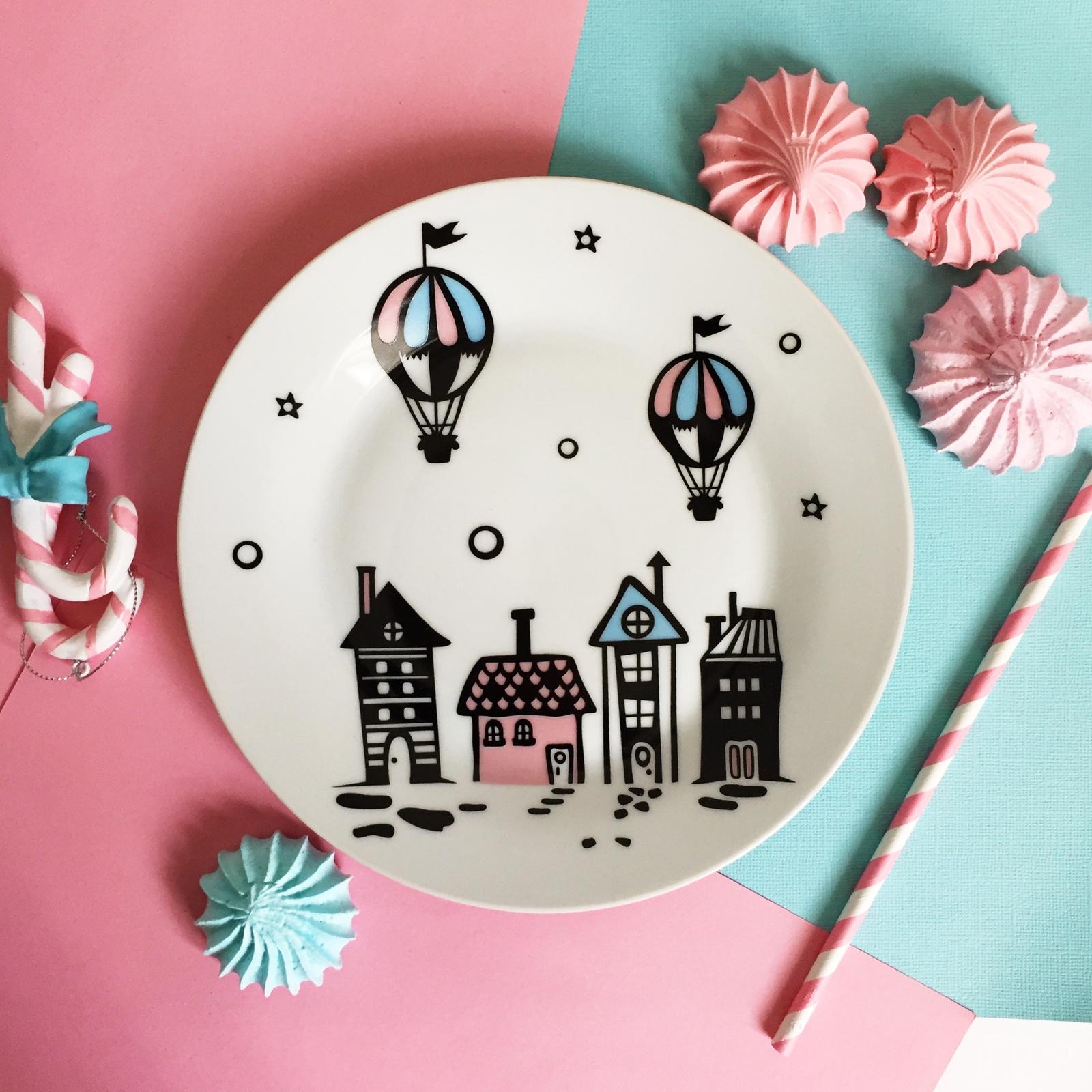 Тарелка Сотвори Чудо Воздушный город 20 см, белый тарелка мелкая сотвори чудо воздушный город диаметр 20 см