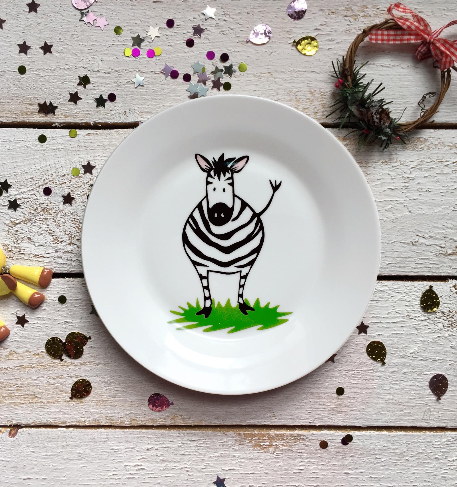 Тарелка Сотвори Чудо Зебрушка 20 см, белый тарелка мелкая сотвори чудо бантик sans brides диаметр 20 см
