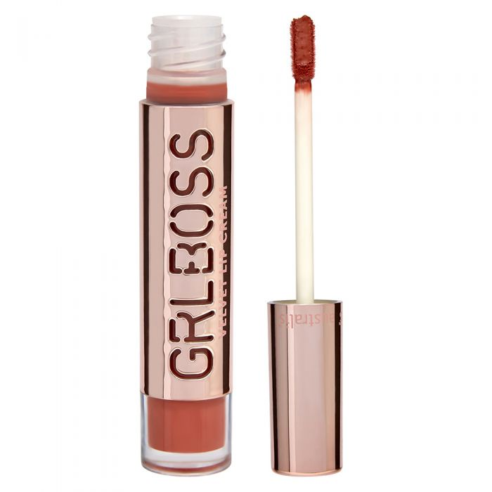 Полуматовая кремовая помада для губ Australis GRLBOSS Demi Matte Lip Cream - Humble, 8мл