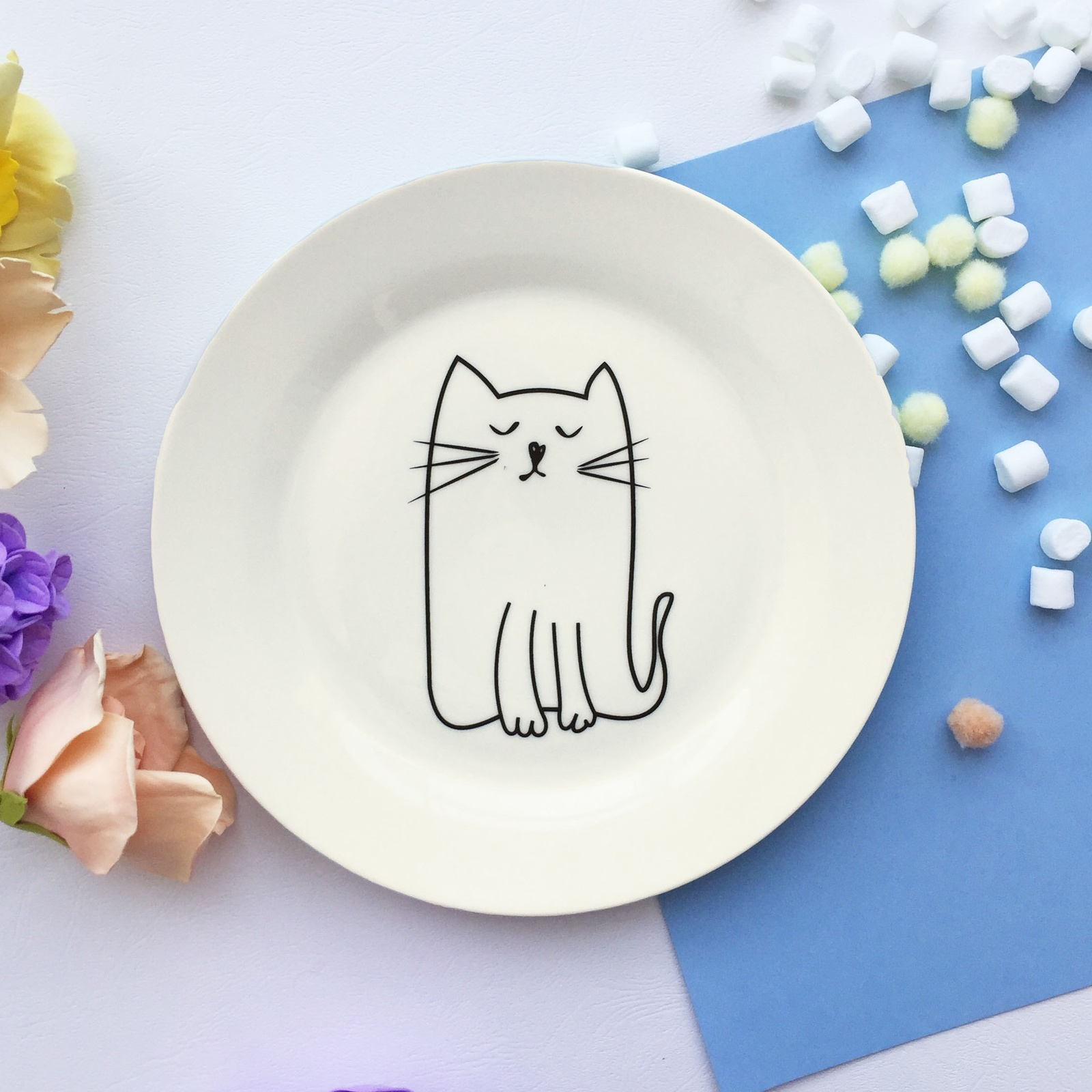 Тарелка Сотвори Чудо Киска 20 см, белый тарелка мелкая сотвори чудо бантик sans brides диаметр 20 см