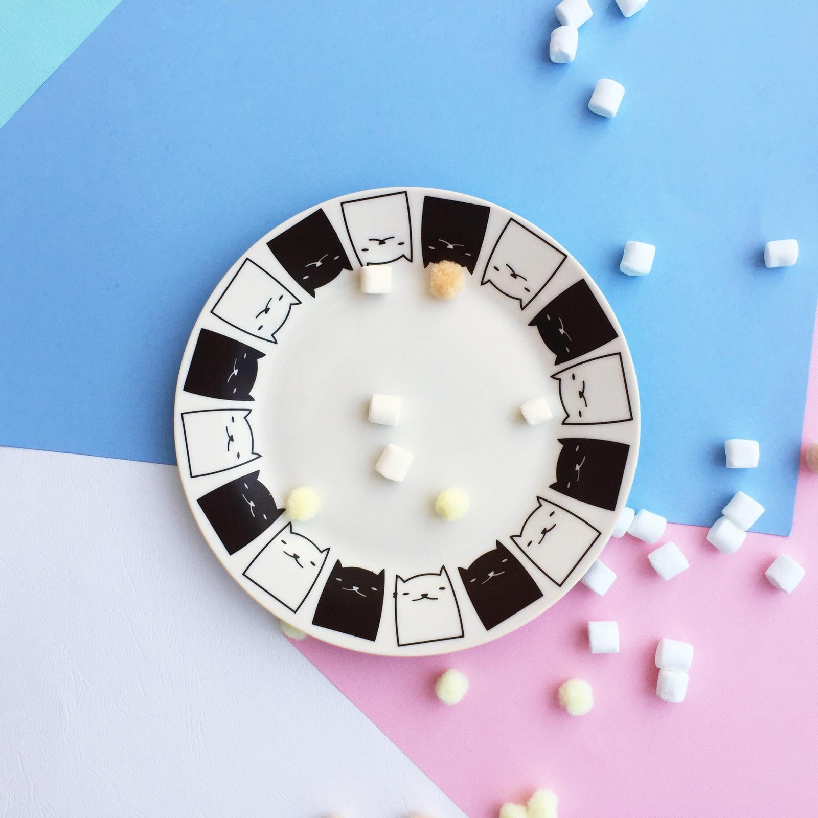 Тарелка Сотвори Чудо Котята 20 см, белый тарелка мелкая сотвори чудо бантик sans brides диаметр 20 см