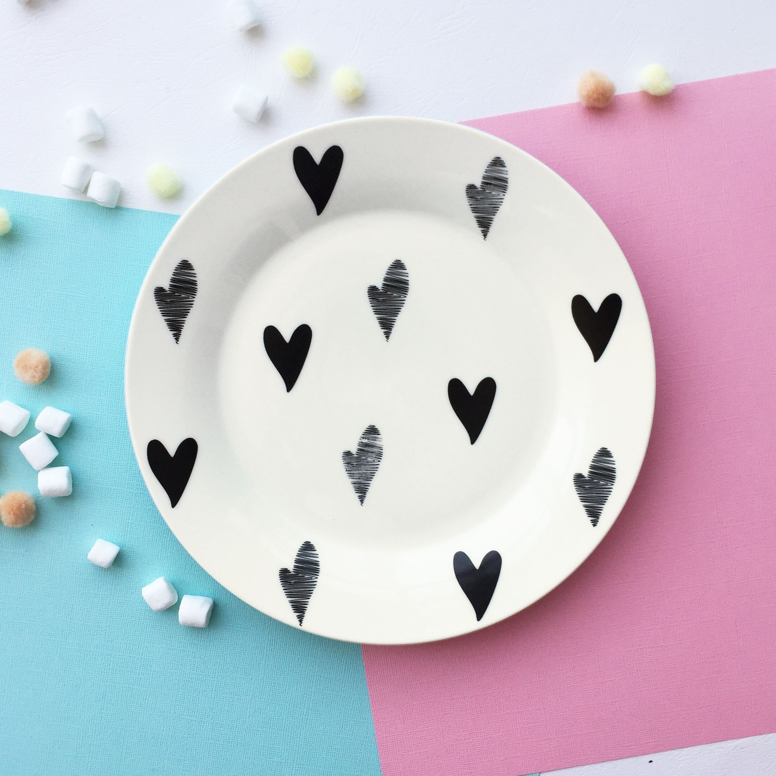Тарелка Сотвори Чудо Маленькое сердце Vol.2 20 см, белый тарелка мелкая сотвори чудо бантик sans brides диаметр 20 см