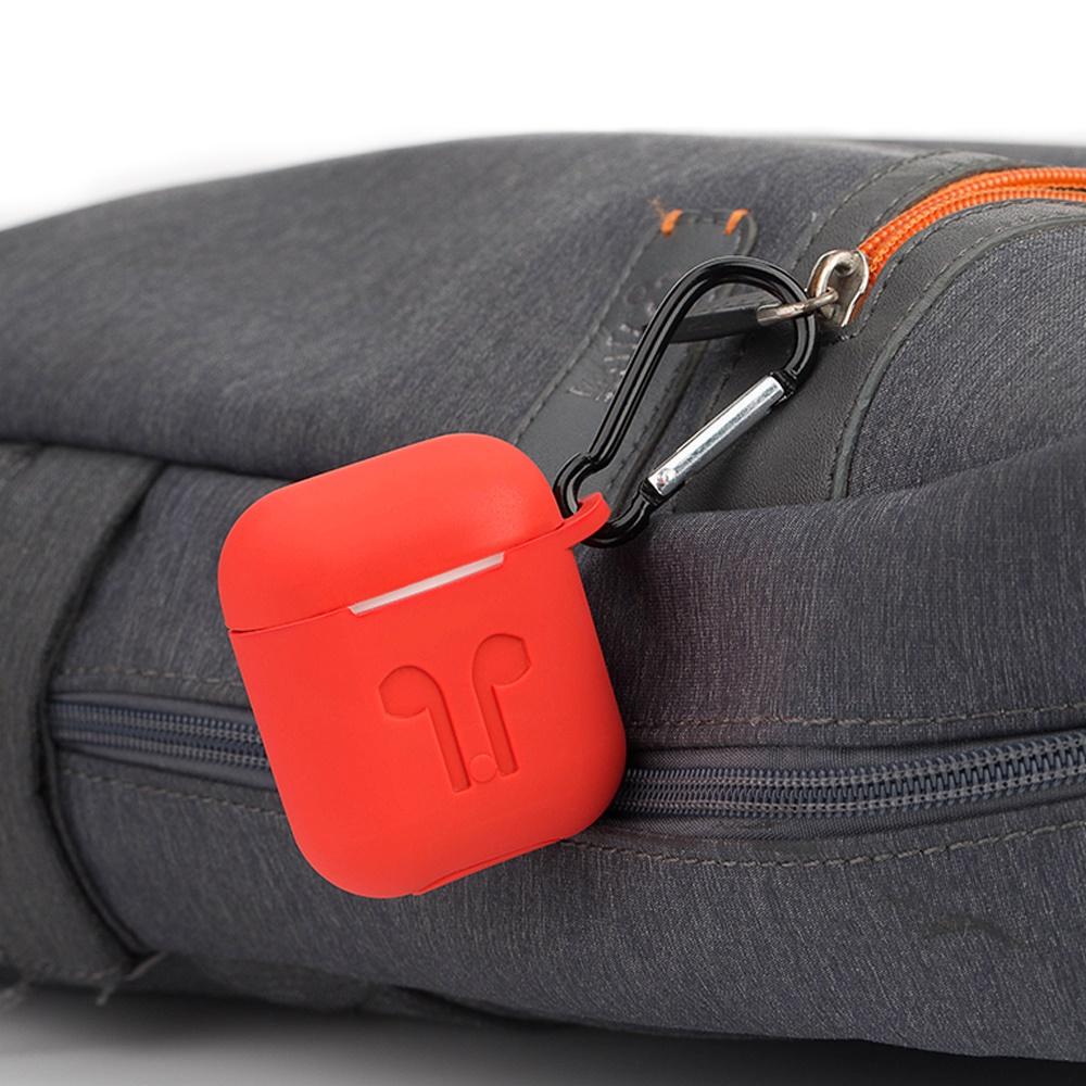 чехол для сотового телефона semolina чехол для наушников airpods 4605180024189 черный Чехол Aceshley для наушников AirPods, 1225, красный