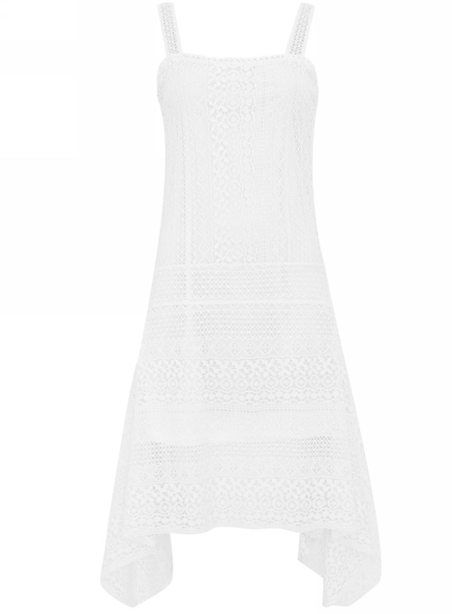 Платье oodji, цвет: белый. 11900179/42773/1200N. Размер 40 (46-164)11900179/42773/1200N