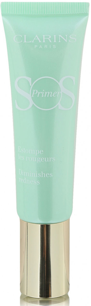 Clarins База под макияж, корректирующая покраснения SOS Primer, тон 04 зеленый, 30 мл