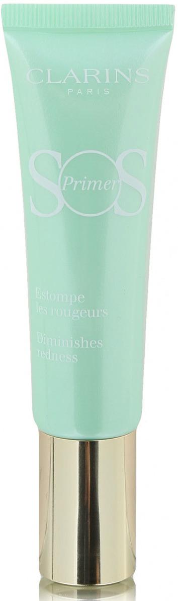 Clarins База под макияж, корректирующая покраснения SOS Primer, тон 04 зеленый, 30 мл цена 2017