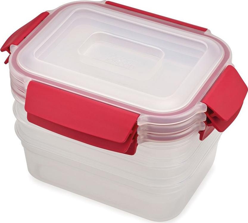 Набор пищевых контейнеров Joseph Joseph Nest Lock, 81083, красный, 1,1 л, 3 шт стоимость