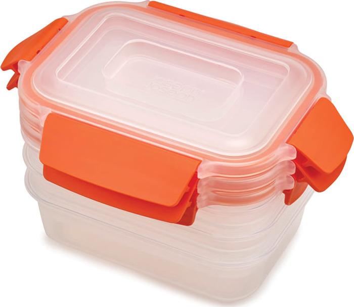 Набор пищевых контейнеров Joseph Joseph Nest Lock, 81084, оранжевый, 540 мл, 3 шт
